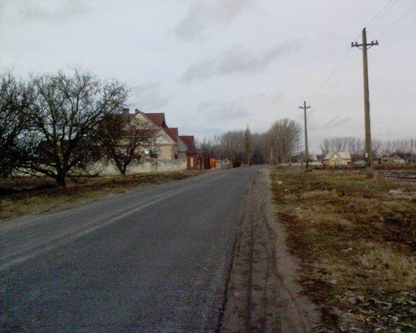 дорога по селу